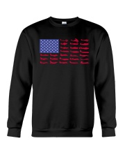 PILOT GIFT - AIRCRAFT AMERICAN FLAG Crewneck Sweatshirt thumbnail
