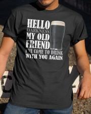 RETRO BEER - HELLO DARKNESS Classic T-Shirt apparel-classic-tshirt-lifestyle-28