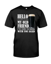 RETRO BEER - HELLO DARKNESS Classic T-Shirt front