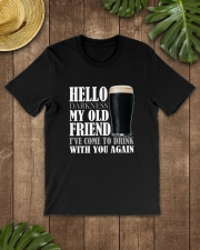RETRO BEER - HELLO DARKNESS Classic T-Shirt lifestyle-mens-crewneck-front-18