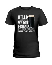 RETRO BEER - HELLO DARKNESS Ladies T-Shirt thumbnail