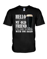 RETRO BEER - HELLO DARKNESS V-Neck T-Shirt thumbnail