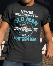 PONTOON LOVERS - NEVER UNDERESTIMATE AN OLD MAN Classic T-Shirt apparel-classic-tshirt-lifestyle-28