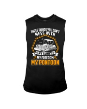 PONTOON BOAT GIFT - FAMILY FREEDOM AND PONTOON Sleeveless Tee thumbnail