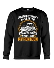 PONTOON BOAT GIFT - FAMILY FREEDOM AND PONTOON Crewneck Sweatshirt thumbnail