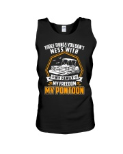 PONTOON BOAT GIFT - FAMILY FREEDOM AND PONTOON Unisex Tank tile