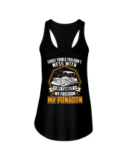 PONTOON BOAT GIFT - FAMILY FREEDOM AND PONTOON Ladies Flowy Tank thumbnail
