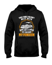 PONTOON BOAT GIFT - FAMILY FREEDOM AND PONTOON Hooded Sweatshirt thumbnail