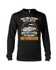 PONTOON BOAT GIFT - FAMILY FREEDOM AND PONTOON Long Sleeve Tee tile