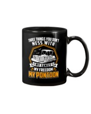 PONTOON BOAT GIFT - FAMILY FREEDOM AND PONTOON Mug thumbnail