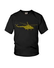 PILOT GIFTS - HELICOPTER ALPHABET Youth T-Shirt thumbnail