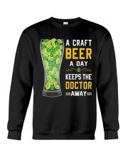 CRAFT BEER LOVER- KEEPS DOTOR AWAY Crewneck Sweatshirt thumbnail