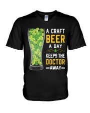 CRAFT BEER LOVER- KEEPS DOTOR AWAY V-Neck T-Shirt thumbnail