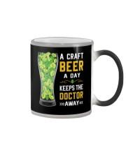 CRAFT BEER LOVER- KEEPS DOTOR AWAY Color Changing Mug thumbnail