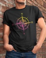 PILOT GIFTS - COMPASS FLIGHT  Classic T-Shirt apparel-classic-tshirt-lifestyle-26