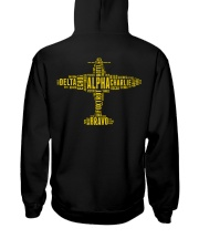 GREAT GIFTS FOR PILOT - ALPHABET BACK Hooded Sweatshirt thumbnail