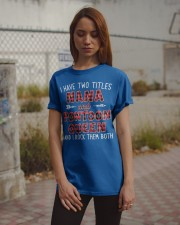 PONTOON BOAT GIFTS - TWO TITLES NANA AND QUEEN Classic T-Shirt apparel-classic-tshirt-lifestyle-18