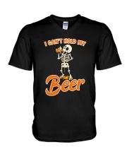 CRAFT BEER LOVER - I CAN'T HOLD MY BEER V-Neck T-Shirt thumbnail