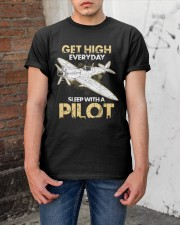PILOT GIFT - GET HIGH Classic T-Shirt apparel-classic-tshirt-lifestyle-31