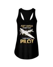 PILOT GIFT - GET HIGH Ladies Flowy Tank thumbnail
