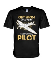 PILOT GIFT - GET HIGH V-Neck T-Shirt thumbnail