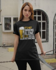 I BREW CRAFT BEER I DRINK AND SOCIAL DISTANCING Classic T-Shirt apparel-classic-tshirt-lifestyle-19