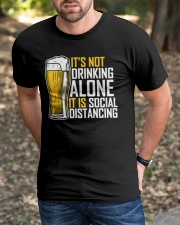 I BREW CRAFT BEER I DRINK AND SOCIAL DISTANCING Classic T-Shirt apparel-classic-tshirt-lifestyle-front-52
