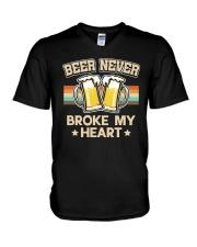 CRAFT BEER LOVER -  BEER NEVER BROKE MY HEART V-Neck T-Shirt thumbnail