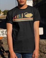 PONTOON BOAT GIFT - EVOLUTION Classic T-Shirt apparel-classic-tshirt-lifestyle-29