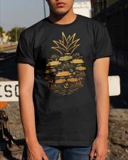 PONTOON BOAT GIFT - PINEAPPLE PONTOON Classic T-Shirt apparel-classic-tshirt-lifestyle-29