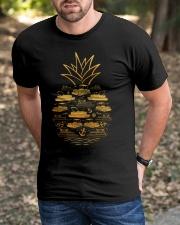 PONTOON BOAT GIFT - PINEAPPLE PONTOON Classic T-Shirt apparel-classic-tshirt-lifestyle-front-52
