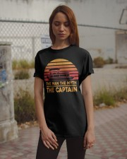 PONTOON LOVER - THE MAN THE MYTH THE CAPTAIN Classic T-Shirt apparel-classic-tshirt-lifestyle-18