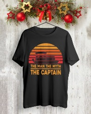 PONTOON LOVER - THE MAN THE MYTH THE CAPTAIN Classic T-Shirt lifestyle-holiday-crewneck-front-2