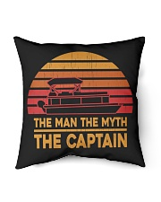 """PONTOON LOVER - THE MAN THE MYTH THE CAPTAIN Indoor Pillow - 16"""" x 16"""" thumbnail"""