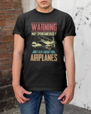 PILOT GIFT - TALK ABOUT AIRPLANES Classic T-Shirt apparel-classic-tshirt-lifestyle-31