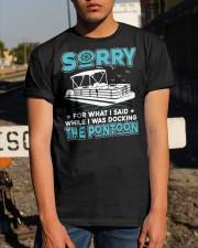 PONTOON BOAT GIFT - SORRY FOR WHAT I SAID Classic T-Shirt apparel-classic-tshirt-lifestyle-29