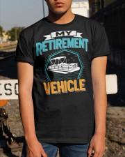 PONTOON BOAT GIFT - MY RETIREMENT Classic T-Shirt apparel-classic-tshirt-lifestyle-29
