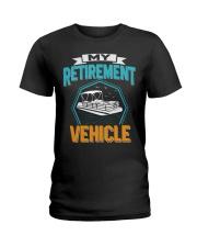 PONTOON BOAT GIFT - MY RETIREMENT Ladies T-Shirt thumbnail