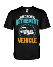 PONTOON BOAT GIFT - MY RETIREMENT V-Neck T-Shirt thumbnail