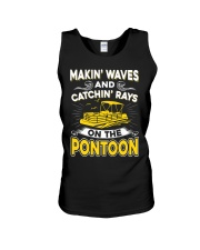 PONTOON BOAT GIFT - MAKIN' WAVES AND CATCHIN' RAYS Unisex Tank thumbnail