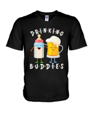 BEER FUNNY SHIRT - DRINKING BUDDIES V-Neck T-Shirt thumbnail