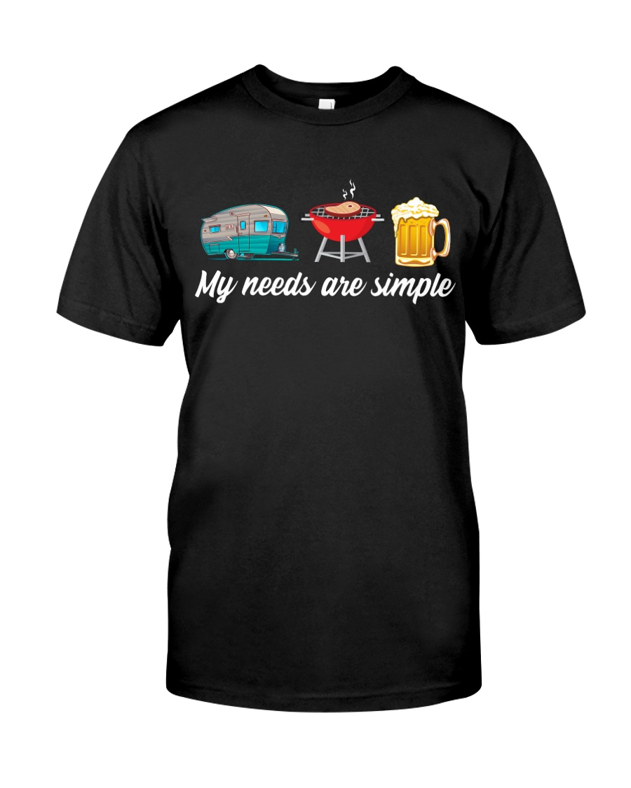 BONFIRE AND BEER - SIMPLE NEEDS Classic T-Shirt