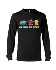 BONFIRE AND BEER - SIMPLE NEEDS Long Sleeve Tee thumbnail