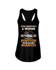 PONTOON BOAT GIFT - MARCH PONTOON WOMAN Ladies Flowy Tank thumbnail