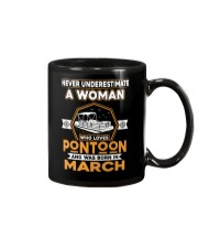 PONTOON BOAT GIFT - MARCH PONTOON WOMAN Mug thumbnail