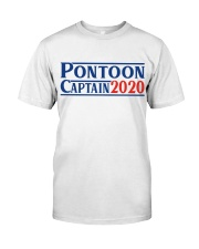 PONTOON BOAT GIFT - PONTOON CAPTAIN 2020 Classic T-Shirt front