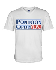 PONTOON BOAT GIFT - PONTOON CAPTAIN 2020 V-Neck T-Shirt thumbnail