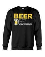 TRULY DRINK BEER DEFINITION Crewneck Sweatshirt thumbnail