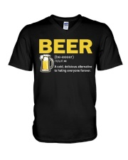 TRULY DRINK BEER DEFINITION V-Neck T-Shirt thumbnail
