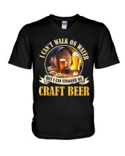 CRAFT BEER LOVER - STAGGER ON BEER V-Neck T-Shirt thumbnail